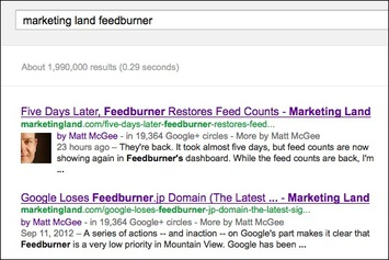 Google Confirms Hidden Benefit Of Authorship: Bonus Links After A Back-Button Click | Law Firm Marketing Online | Scoop.it