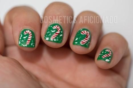 Christmas Candy Cane Nail Art For Nubs + Linkup - Cosmetics Aficionado Makeup and Beauty Blog | Beauty Buff | Scoop.it