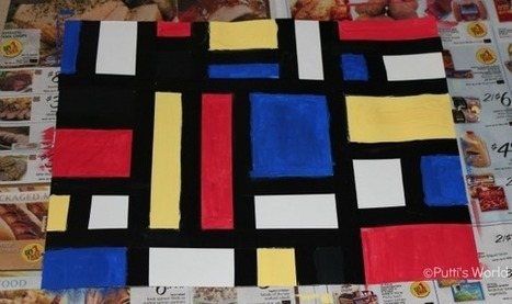 Piet Mondrian For Kids ~ Putti's World-kids-activities | Jardim de Infância | Scoop.it