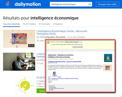Grrrrrr ! Dailymotion rend ses fils RSS invisibles ! Comment les retrouver ! | Time to Learn | Scoop.it