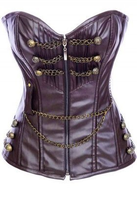 Brown Leather Strapless Zipper Corset - AM2854 - rimaann.com | Rima Ann - Sexy Lingerie | Scoop.it