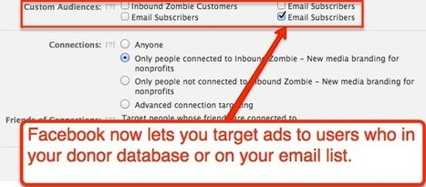 How to Target Your Donors or Email Subscribers with Facebook Ads | SM4NPFacebook | Scoop.it