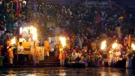 Ganga Aarti at Har-Ki-Pauri (Haridwar) Indian Temple ~ INDIAN TEMPLE JMD   Indian Temple Yatra   Scoop.it