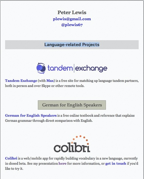 EN: Peter Lewis - Language-related Projects | LinguaCamp | Scoop.it