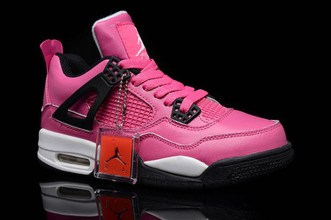 Men Jordan 4 Sale:Retro 4 Gs Voltage Cherry and Black White and Pink | my style | Scoop.it