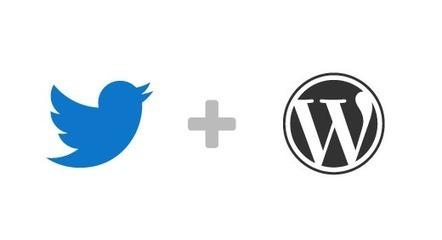 Twitter lance son plugin WordPress officiel - #Arobasenet | DIGITAL | Scoop.it