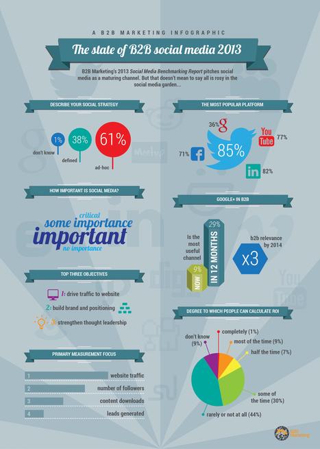 The State of B2B Social Media [INFOGRAPHIC]   Social Media for Macmillan folk   Scoop.it