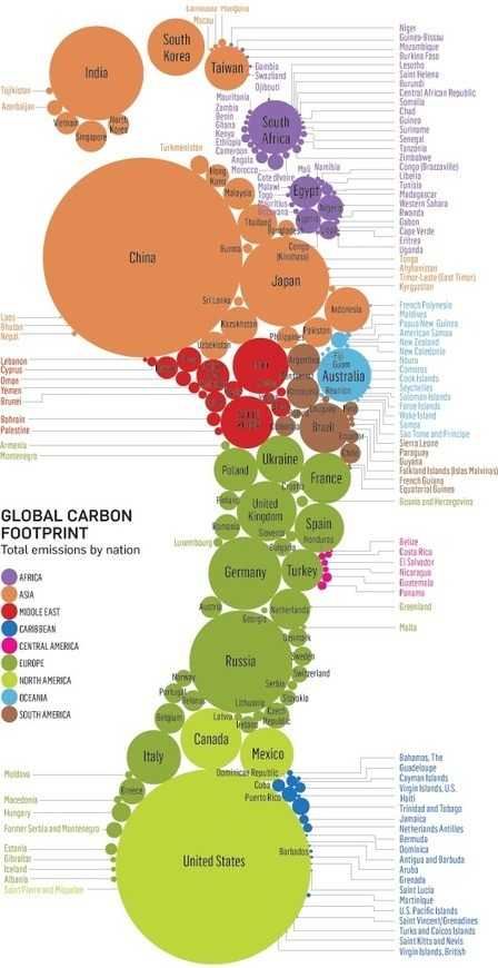 Visualizing the Global Carbon Footprint | population geography | Scoop.it