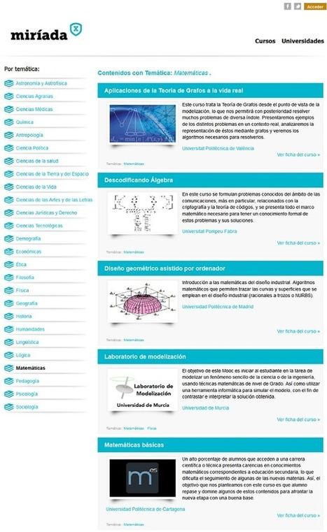 Nace Miríada X, plataforma para impartir cursos online gratuitos en español - Gaussianos | Aprendizaje en red. El cambio de paradigma. | Scoop.it