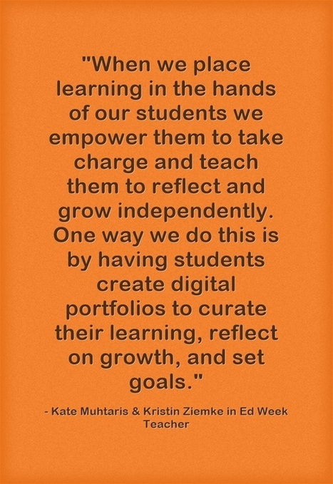 Response: Ways To Help Students Develop Digital Portfolios | 21st C Learning | Scoop.it