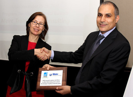 Meirc Awarded American Society for Quality (ASQ) Acknowledgement Plaque | Dubai Training News | Scoop.it
