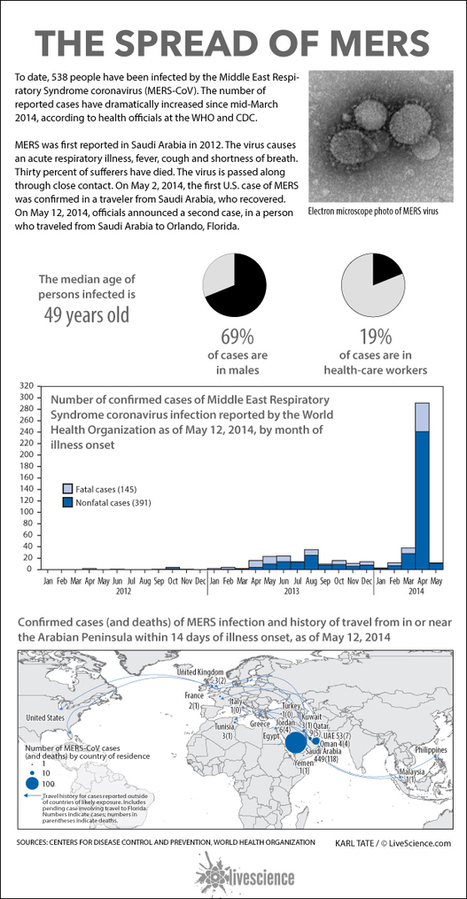 How the Deadly MERS Virus Has Spread Around the World (Infographic) | Medicine in Pictures | Scoop.it