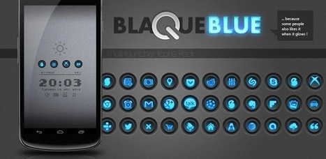 Blaque Blue icon pack v1.0.1 (paid) apk download | ApkCruze-Free Android Apps,Games Download From Android Market | hair | Scoop.it