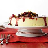 Crustless Cheesecake with Cranberry Sauce | recettes de cuisine de campagne | Scoop.it