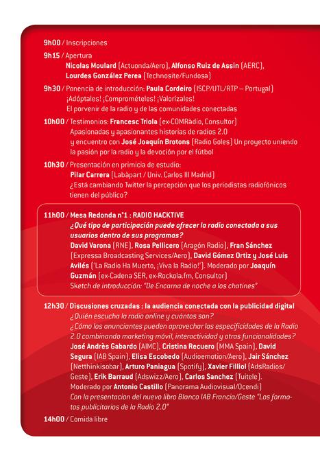 Un programa 'implicanto a los oyentes' para la Jornada Radio 2.0 Madrid del 30 de Oct | Radio 2.0 (En & Fr) | Scoop.it