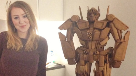 More than 700 pieces of gingerbread transformed into Optimus Prime | Strange days indeed... | Scoop.it