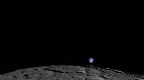 Our Pale Blue Dot Rising Over The Lunar Horizon | The Asymptotic Leap | Scoop.it