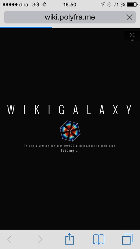 Fall Through A Wormhole Into This Stunning Wikipedia Galaxy | Working With Social Media Tools & Mobile | Scoop.it