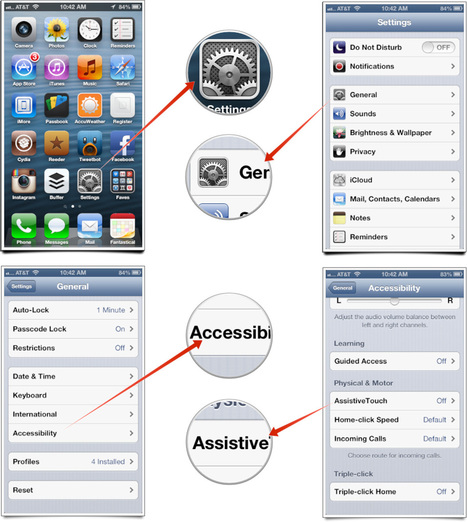 How to remedy a bad Home button or Power button on iPhone using Assistive Touch | OnLiNeR BoT - Apple news | Scoop.it