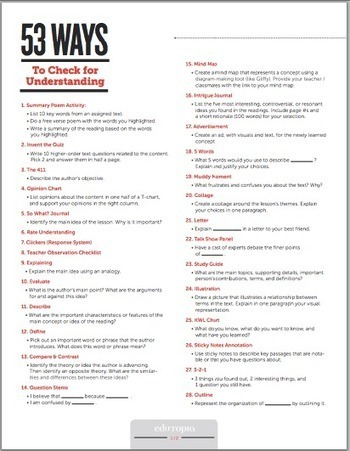 50+ Ways to Do Formative Assessment in Class ~ Educational Technology and Mobile Learning | DSign4.Education | Scoop.it