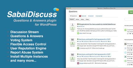 3 plugins pour installer un système de questions réponses sur votre blog | Les outils du Web 2.0 | Scoop.it
