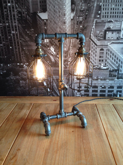 Bring a touch of industrial grunge into your décor with industrial style table lamps | Adorable Home - Inspirational Home Design and Decorating Ideas | Scoop.it