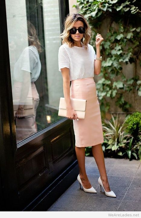 Awesome skirt and top for an office outfit   Pintast   Scoop.it