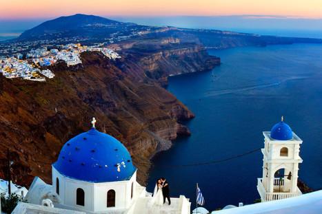Santorini Greece Wedding by Chrisman Studios   Magical Destination Wedding Venues   Scoop.it