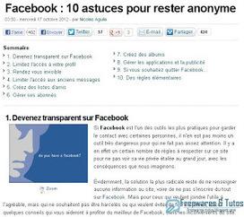 Le site du jour : 10 astuces pour protéger sa vie privée sur Facebook | Froggy'Net et Facebook pour l'entreprise | Scoop.it