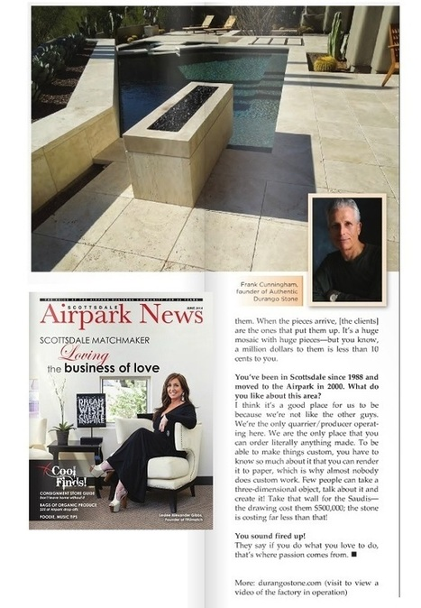 """06/22/14 Scottsdale Airpark News Article Durango Stone """"The Marble King"""" 