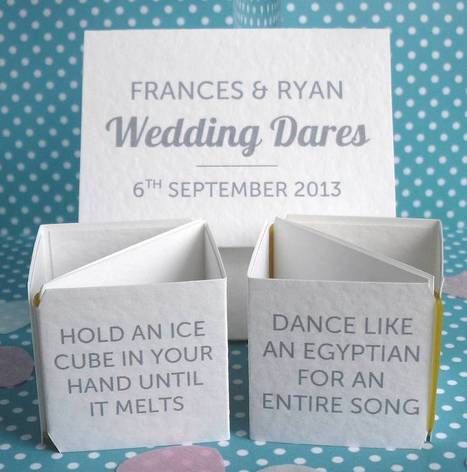 Personalised Wedding Dares Table Decoration | Everything Else | Scoop.it