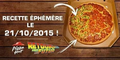 "La fameuse pizza de ""Retour vers le futur 2"" ce mercredi (seulement) chez Pizza Hut ! - Communication (Agro)alimentaire 