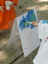 Simple easels for outdoor painting | Teach Preschool | Scoop.it