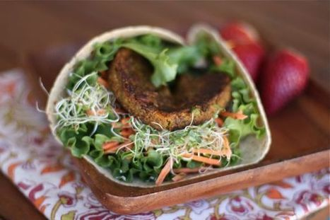Veggie Burger Wraps | Aggie's Kitchen | Food for Foodies | Scoop.it