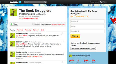 50 Addictive Twitter Feeds for Bookworms   Online College Courses   eBooks in Libraries   Scoop.it