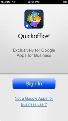 Google releases free Quickoffice iPhone app for Google Apps for ... | Using Word PowerPoint and Excel on iPad | Scoop.it