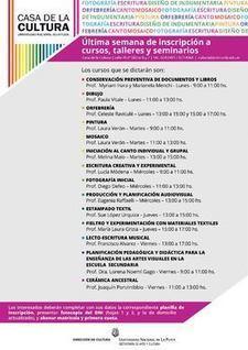 Inscripción a cursos en la Casa de la Cultura   SEDICI   Difusión de actividades de la UNLP   Scoop.it