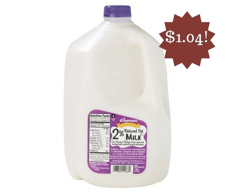 Wegmans: Wegman's Milk Only $1.04 | Grocery List Savings | Scoop.it