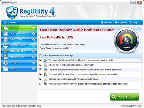 Regutility - Best Registry Cleaner For Windows 7/vista/xp Free Registry scan   SaveInTrash   Scoop.it