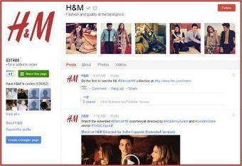 How H&M made its Google+ page No. 1 | Articles | Community Managers Unite | Scoop.it