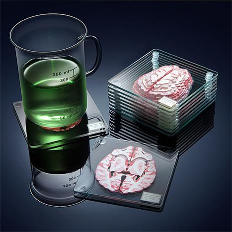Stackable Glass Coasters Separate the Brain Into 3D Specimen   Le It e Amo ✪   Scoop.it
