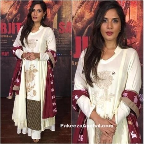 Richa Chadha in Natasha J label Anarkali Suit | Indian Fashion Updates | Scoop.it