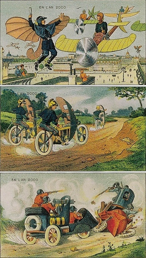 Villemard's Vision: 1910 Postcards Depict the Year 2000 | Paleofuture | Scoop.it