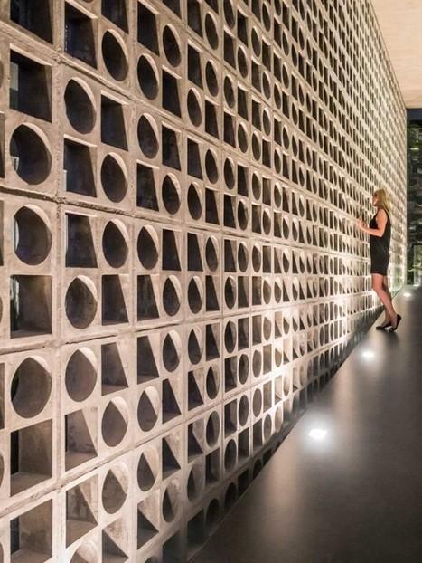 Maison contemporaine avec murs de claustra | Architecture et design | Scoop.it