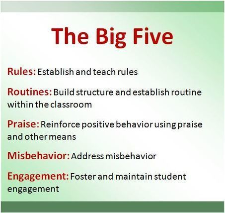 "Teaching attitude : ""The big 5"" | ELT | EFL-ESL, ELT, Education | Language - Learning - Teaching - Educating | Scoop.it"