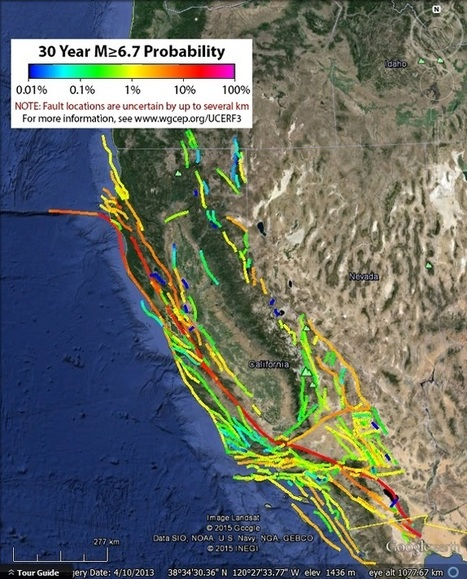 California fault lines and earthquake probabilities - Google Earth Blog | GIS in Education | Scoop.it