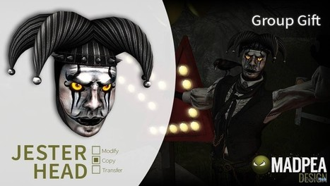 Jester Head Group Gift by MadPea | Teleport Hub - Second Life Freebies | Second Life Freebies | Scoop.it
