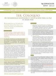 Invitación al 1er Coloquio de desarrollo sostenible y educación para ... | Ambiente y sociedad | Scoop.it