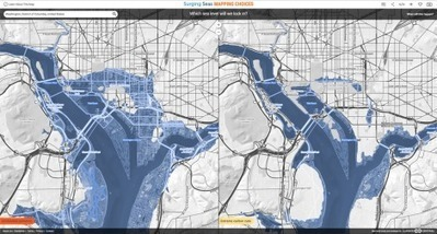 See How Sea-Level Rise Might Drown Some Cities | web maps | Scoop.it