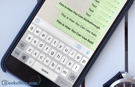 How to Type Bold, Italics, and Strikethrough in WhatsApp on iPhone | iPhone and iPad How-tos | Scoop.it